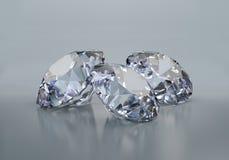 Três grandes diamantes Fotografia de Stock Royalty Free