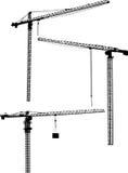 Três guindastes pretos do edifício ilustração do vetor