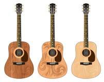 Três guitarra com um teste padrão Foto de Stock