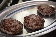 Três Hamburger Imagem de Stock Royalty Free