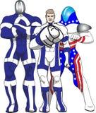 Três heróis patrióticos Fotos de Stock