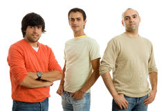 Três homens fotografia de stock royalty free