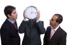 Três homens de negócio com pulso de disparo Fotografia de Stock Royalty Free