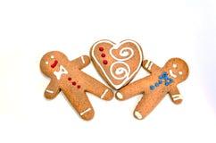 Três homens do biscoito do pão-de-espécie Imagem de Stock Royalty Free
