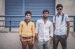 Três homens indianos Fotos de Stock