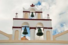 Três igreja Bels três cruzes Imagem de Stock