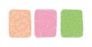 Três ilustrações da flor, Imagem de Stock