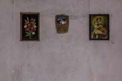Três imagens na parede Imagens de Stock Royalty Free