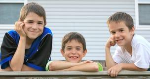 Três irmãos Fotos de Stock Royalty Free