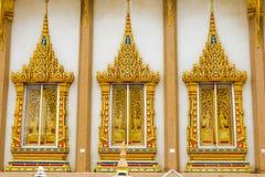 Três janelas do templo como o teste padrão Imagem de Stock Royalty Free