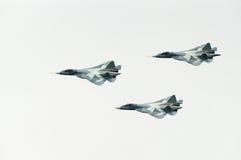 Três jatos do FÁ T-50 de PAK Fotos de Stock