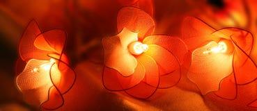 Três lanternas elétricas afortunadas chinesas Fotografia de Stock Royalty Free