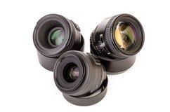 Três lentes Imagem de Stock