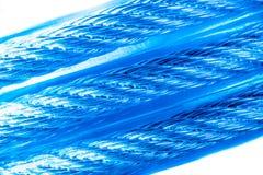 Três linhas de cabo azul Imagem de Stock