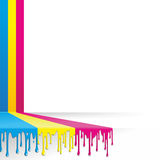 Três listras coloridas Imagens de Stock