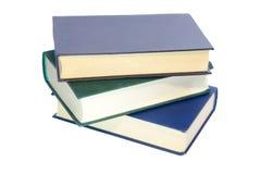 Três livros isolados no branco imagem de stock