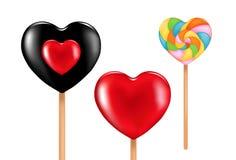 Três lollipops encantadores. Vetor Foto de Stock Royalty Free