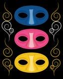 Três máscaras do carnaval Imagens de Stock