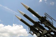 Três mísseis imagem de stock