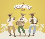 Três músicos latin que jogam a música latin ilustração stock