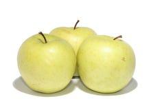 Três maçãs Fotos de Stock