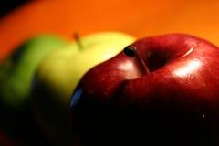 Três maçãs Imagens de Stock