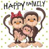 Três macacos ilustração royalty free