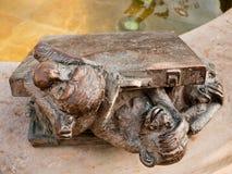 Três macacos, Halle, Alemanha Imagem de Stock Royalty Free