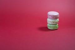 Três macarons Imagens de Stock Royalty Free