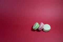 Três macarons Fotografia de Stock