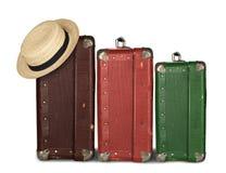 Três malas de viagem Fotografia de Stock Royalty Free