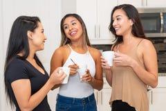 Três mamãs na cozinha imagens de stock royalty free