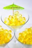 Três martinis do fígado do petróleo de bacalhau Imagem de Stock