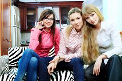 Três meninas Foto de Stock Royalty Free