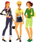 Três meninas ilustração royalty free