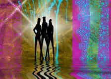 Três meninas Ilustração Stock