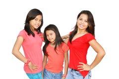 Três meninas asiáticas imagem de stock