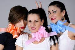 Três meninas engraçadas Foto de Stock Royalty Free