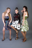 Três meninas felizes Imagens de Stock Royalty Free