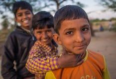 Três meninos Fotografia de Stock