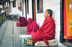 Três meninos novos em Himachal Pradesh Fotos de Stock Royalty Free