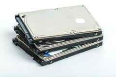 Três 2 mentira de 5 movimentações de disco rígido do portátil da polegada em se Imagens de Stock
