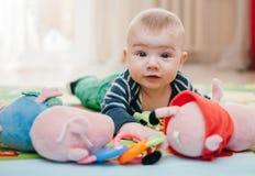 Três-meses da criança Imagens de Stock Royalty Free