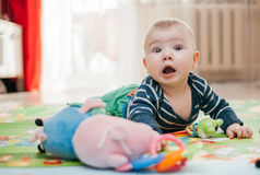 Três-meses da criança Fotos de Stock