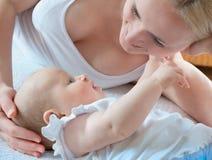 três meses de bebê Imagens de Stock