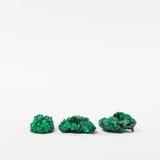 Três minerais verdes da malaquite Fotografia de Stock
