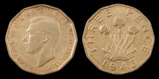 Três moedas de um centavo Fotos de Stock