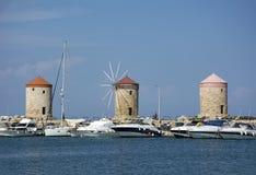 Três, 3 moem, barcos na água, mar Fotografia de Stock Royalty Free