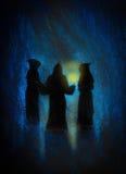 Três monges Imagens de Stock