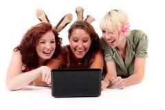 Três mulheres atrativas novas fotografia de stock